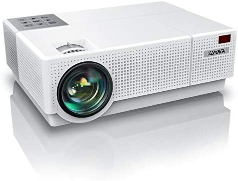 YABER Y31 Native 1920x 1080P Projector 8000L Upgrade Full HD Video Projector, ±50° 4D Keystone Correction Support 4K, LCD LED Home Theater Projector Compatible with Phone,PC,TV Box,PS4 (White)
