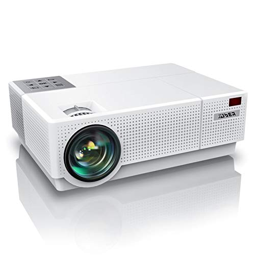 YABER Y31 Native 1920x 1080P Projector 7500L Upgrade Full HD Video Projector, ±50° 4D Keystone Correction Support 4K, LCD LED Home Theater Projector Compatible with Phone,PC,TV Box,PS4 (White)