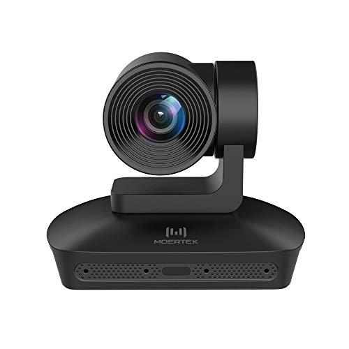 MOERTEK MC200S Full HD 1080P PTZ Videoconferenza Telecamera con 4 Matrici Microfoniche, Zoom Ottico 10X, Videocamera per Conferenze USB, per Videoconferenze Aziendali