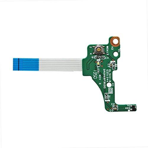 GinTai Power Switch Button Board with Cable Replacement for HP Pavilion 17-e128ca 17-e129nr 17-e130us 17-e140nr 17-e140us 17-e141nr 17-e143nr 17-e147ca 17-e137cl
