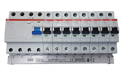 ABB FI und Sicherungsautomat 16A Set + Sammelschiene F204A-40/0,03 / S201-B16