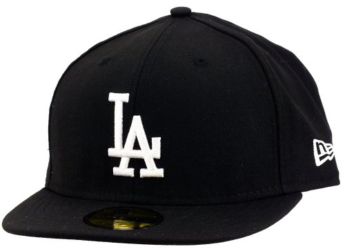 New Era Los Angeles Dodgers 59fifty Cap Mlb Basic Black / White - 7 3/8 - 59cm