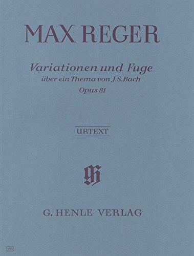 Max Reger-Variationen Über Ein Thema Von J.S. Bach Opus 81-Klavier-BOOK
