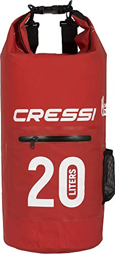 Cressi Dry Bag Mochila Impermeable para Actividades Deportivas, Unisex Adulto, Rojo (Red/Zip), 20 L