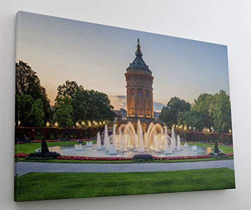Mannheim City Leinwand Canvas Bild Wandbild Kunstdruck L1469 Größe 100 cm x 70 cm