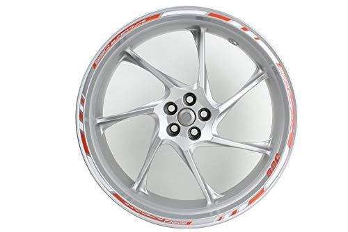 Motocicleta Moto Llanta Inner Rim Tape Decal Pegatinas para KTM Superduke 990 (Naranja/Blanco)