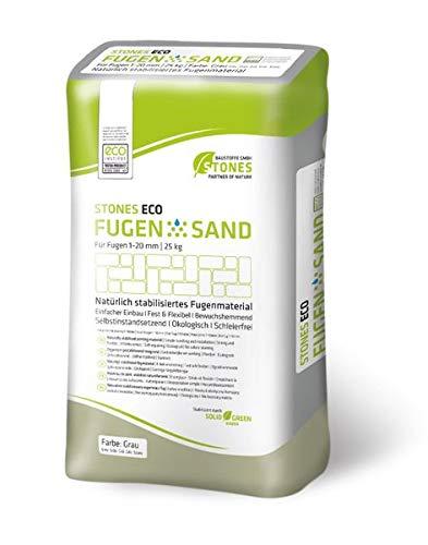 STONES ECO FUGENSAND 1-20 mm grau 25 kg - Innovativer Fugensand - Hoher Erosionsbeständigkeit