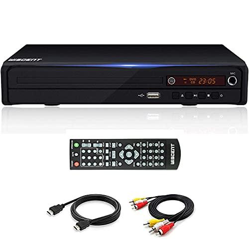 DVD-Player, WISCENT HDMI-DVD-Player für TV (Full HD mit HDMI-Kabel-Fernbedienung USB-Eingang) Alle Regionsfreie Heim-DVD-Player
