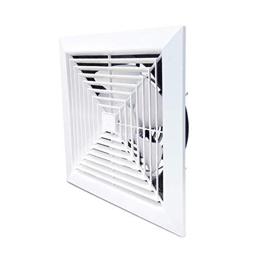 FENXIXI Ventilador de ventilación a través de la pared, ventilador de escape cuadrado blanco,Ventilador de ventilación de techo de descarga vertical