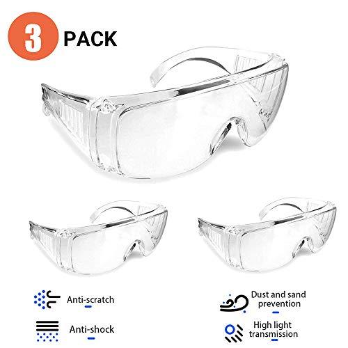 Pack de 3 gafas de seguridad