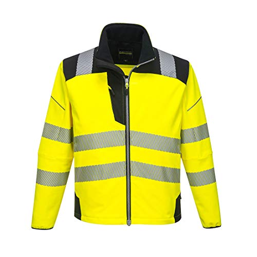 Portwest T402YBR5XL Vision Hi-Vis Softshell-jas, 5X-groot, geel/zwart