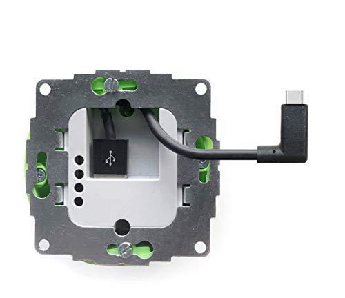 Smart things S24 C Scharge - Unterputz-Netzteil 12W Speziell für alle Sdocks, Tablets und Phones mit USB-C Anschluss inklusive USB-C Adapter 30cm zum Laden des iPad | 5 V–, 5%/ 2400mA