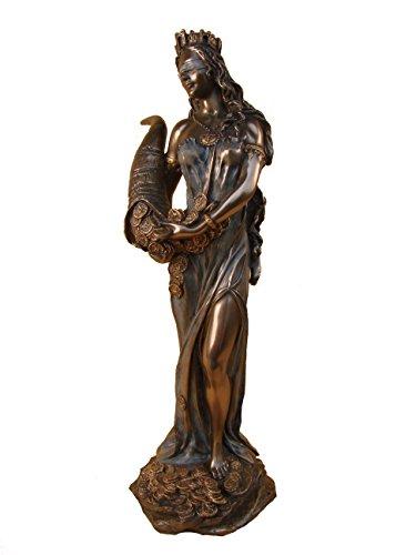 dea romana FORTUNA scultura in bronzo di circa 30 cm