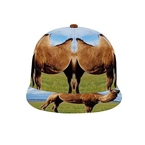 PecoStar Cappellino da Baseball Unisex Regolabile con Visiera Hip-Hop, Mongolia Bactriane Cammello Uomo e Donna