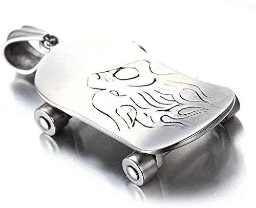 PPQKKYD Halskette Halskette Exquisite Damen Herren Halskette Edelstahl Halskette Sport-Serie beliebte Exquisite Moderne beliebte Skateboard Titan Stahl Pendan