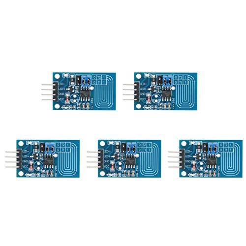Interruptores de atenuación, 5 unidades de atenuador táctil capacitivo Control PWM Interruptor atenuador LED Módulo atenuador táctil capacitivo para tira de luz, lámpara de mesa interior, atenuación d
