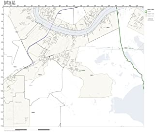 ZIP Code Wall Map of Luling, LA ZIP Code Map Laminated