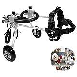 Silla de ruedas para perros ajustable Perro silla de ruedas veterinario autorizado, silla de ruedas for las piernas hacia atrás, for el perro de animal doméstico / del gato de ruedas Hind Pierna de re