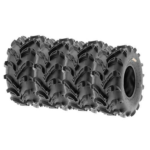 "SunF 22x11-9 22x11x9 Tubeless 6 PR 22"" ATV UTV Tires A024 [Set of 4]"