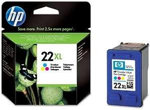 HP Cartucho de impresión para inyección de Tinta Tricolor HP 22XL 22 Inkjet Print Cartridges, de 15 a 35° C, 113 x 36 x 115 mm, 113 x 36 x 115 mm