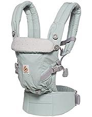Ergobaby Adapt Babytrage für Neugeborene ab Geburt, 3in1 Baby-Bauchtrage Rückentrage Babytragetasche, Frosted Mint