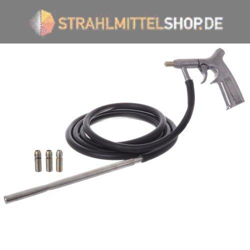 Sandstrahlpistole mit Ansaugschlauch, Auarita PS-9 , 4 Duesen 8mm, 1 Ansaugschlauch, EAN: 5902553708288