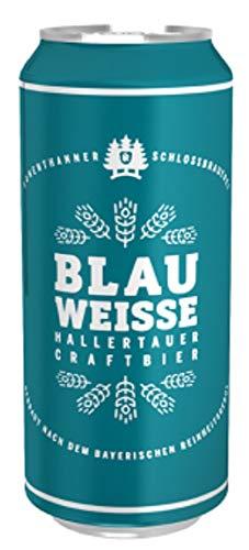 Deutsche Bierspezialitäten in der Dose (24 x 0,5l Hohenthanner Blau Weisse)