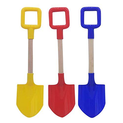 3 palas de nieve multifunción con mango de madera, pala de nieve, pala de playa, para niños, castillo de arena, herramienta de juguete al aire libre, accesorios