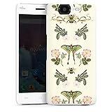 DeinDesign Hard Hülle kompatibel mit Wiko Highway Schutzhülle weiß Smartphone Backcover Biene Schmetterling Muster
