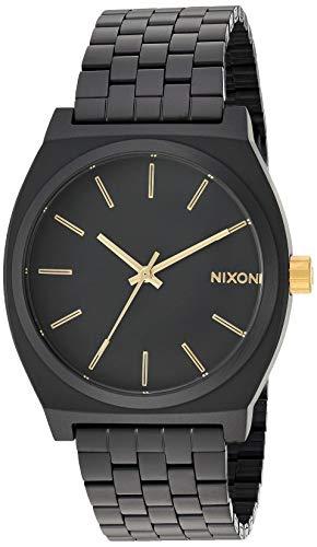 Nixon Time Teller Matte Black/Gold Unisex Watch (37mm. Black/Gold Face/Matte Black Metal Band)
