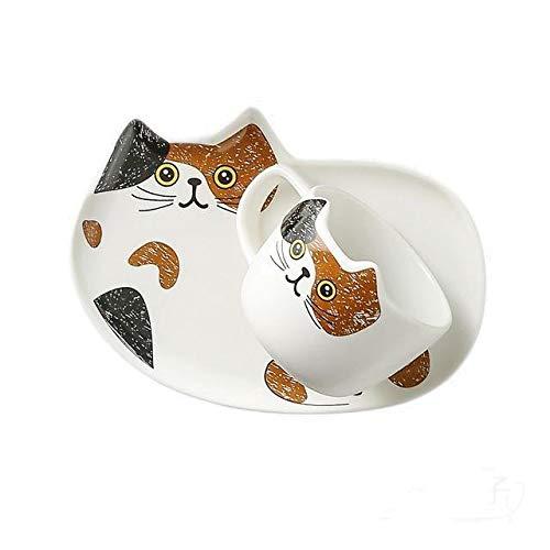 Copa De Vino Taza De Café Tazacartoon Ceramics Cat Mug Set With Saucers Spoon 200Ml Coffee Milk Mugs Cute Breakfast Drinkware