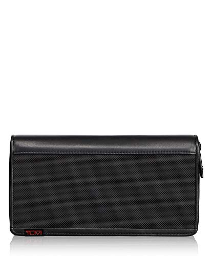 TUMI - Alpha Zip-Around Travel Wallet with RFID ID Lock for Men - Black