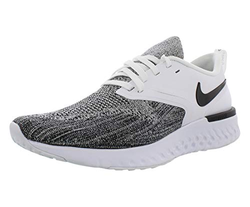 Nike Men's Odyssey React Flyknit 2 Running Shoes (8.5, Black/White/Black)