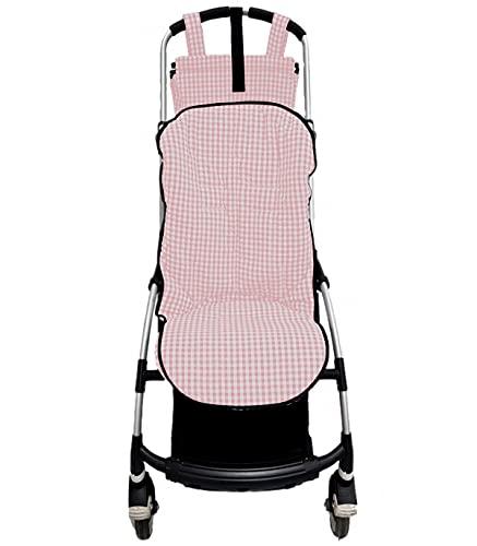 Colchoneta o funda para silla carrito Bugaboo Bee. Vichy (Rosa)