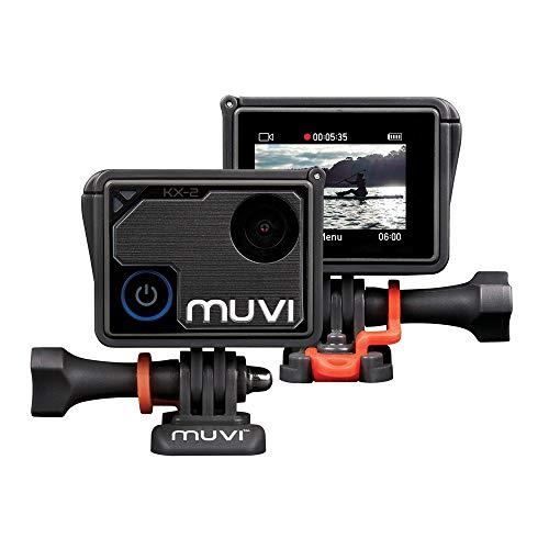 Veho Muvi KX-2 NPNG Action-Kamera, KX-Serie, Freisprecheinrichtung, WiFi, 32 GB microSD-Karte, 4k Action Cam, 12MP Foto, 4k30 / 1080p100, wasserdichtes Gehäuse (VCC-009-KX2-NPNG)