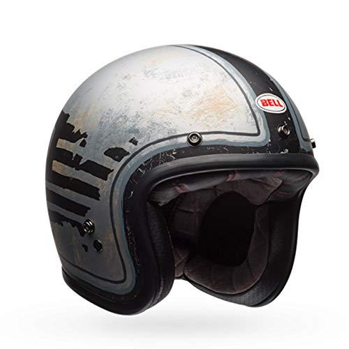 BELL Helmets Cruiser 2017Custom 500 SERSD 74 Motorradhelm für Erwachsene, Schwarz/Silber, Größe 2XS