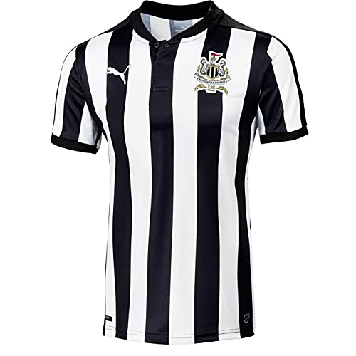 PUMA Kids Childrens Newcastle United Official Football Home Shirt Top 2017-18 - 13-14 Years Black/White