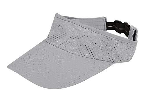 Baseballkappe mit Sonnenblende, verstellbar, für Sport, Tennis, Golf, Laufen -  Grau -  Einheitsgröße