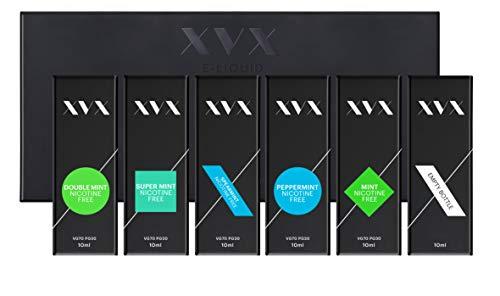 XVX E Liquid - Mint Mix - 5 Pack - Double Mint - Mint - Peppermint - Spearmint - Super Mint - E Cigarettes 10ml Bottle Electronic Cigarette Shisha Vapouriser - Needle Tip - Ecig - E Cig