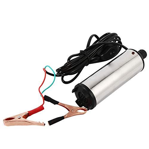 Bomba Eléctrica Sumergible para Agua de Riego Agrícola, Portátil 12V Aceite de...