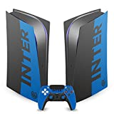 Head Case Designs Officially Licensed Inter Milan Blue and Black Full Logo Vinyl Faceplate Sticker Gaming Skin Decal Compatible With Sony PlayStation 5 PS5 Digital Console and DualSense Controller