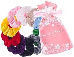 JRCURE Scrunchies Velluto Vsco Girl 10 Elastici Capelli Fasce per Capelli Donna Bambina Ragazza Accessori Assortiti...