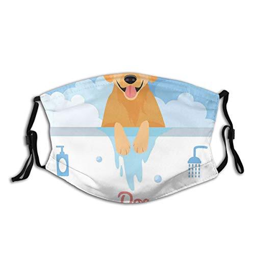 MEIDUOSI Hund waschen in der Badewanne Cartoon Schaum und Seife Hygiene Staub Gesicht Abdeckung waschbar wiederverwendbar, staubdicht, Radfahren