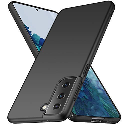 none-branded Avalri Cover Samsung Galaxy S21, Minimalista Design Ultra Sottile Case Rigida in PC Antiurto Anti-Graffio Custodia per Samsung Galaxy S21 (Liscio Nero)