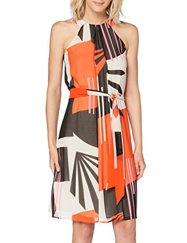 ESPRIT Collection Damen 040EO1E325 Kleid, 828/RED ORANGE 4, 42