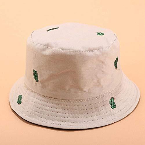 WKH Sombrero de Pescador de Doble Cara con Bordado de Cactus Hombres...