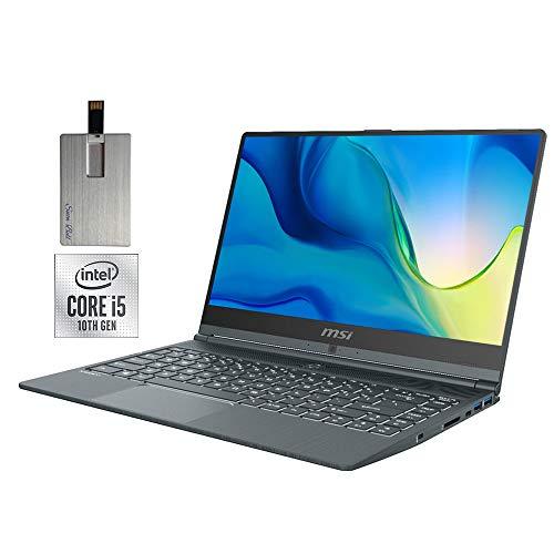 2020 MSI Modern 14' FHD Laptop Computer, 10th Gen Intel Core i5-10210U, 16GB RAM, 512GB PCIe SSD, Backlit KB, Intel UHD Graphics, HD Webcam, USB-C, Bluetooth, Win 10 Pro, Gray, 32GB SnowBell USB Card