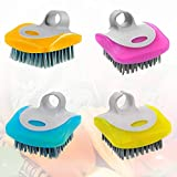 【DURABLE MATERIAL】Our potato brush scrubbers are made of premium plastic material, which have the features of sturdy, durable and reliable and are well-constructed. The well-shaped brush hairs can help you handle the kitchen cleaning matters. 【EASY T...