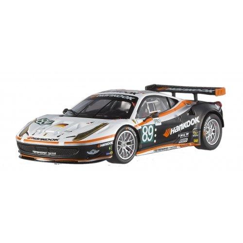 Hotwheels - Elite (mattel) - X5498 - Véhicule Miniature - Modèle À L'échelle - Ferrari 458 Gt2 Farnbacher Racing - Le Mans 2011 - Echelle 1/43