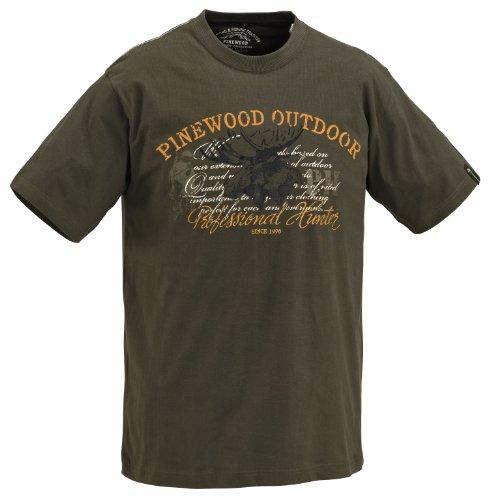 Pinewood T-Shirt pour Enfant Motif élan 10 Ans Vert - Khakigrün